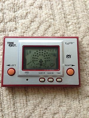 vintage electronic games Game And Watch/ Toss Up/ Donkey Kong/ Space Invaders