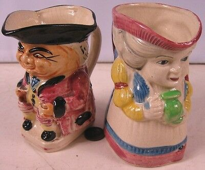 2 Vintage Creamer Toby Mugs Made in Japan