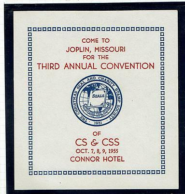"USA Stamp Club/Show Seals,""CS & CSS"" 3rd Annual Convention in 1955"