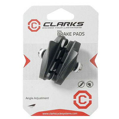 Clarks Elite Road Brake Pads Integral Block W/Angle Adjustment