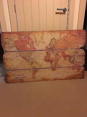 Retro Wall Map Of The World