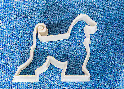 Afghan Hound Cookie Pastry Icing dog biscuit Cutter made in the uk 3d printed