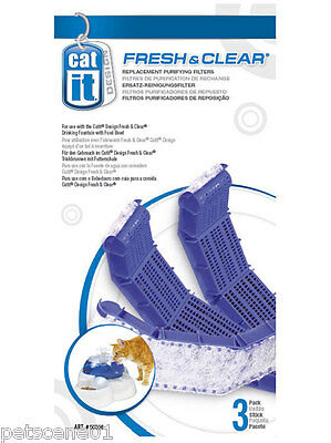 Hagen Catit Fresh & Clear Replacement Purifying Filters 50056 for Water Fountain