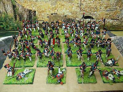 70 Painted 15Mm Ab Figures French Napoleonic Line Infantry