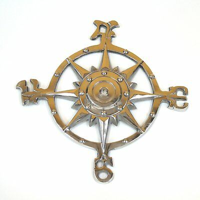 Nautical Decor For Bedroom Wall Plaque Sculpture Cast Iron Compass Rose New