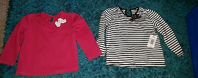 2 girls long sleeved tops age 2-3