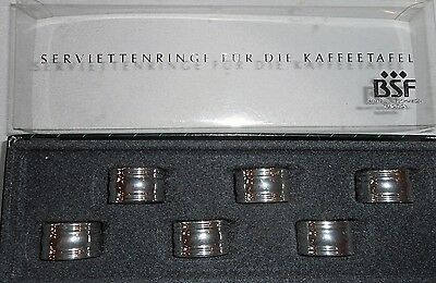 Set of 6 Napkin Rings For The Coffee Table By Bremer SilberschriedeTradition BSF