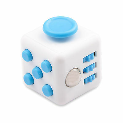 Blue Fidget Cube Toy Christmas Gift ! Anxiety Attention Stress Relief For Adults