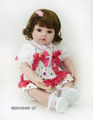 "22"" reborn girl doll with a full head of hair"