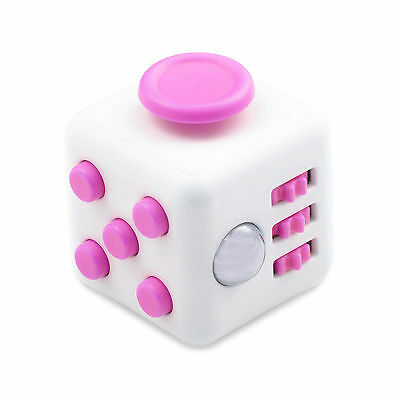Pink Fidget Cube Toy Christmas Gift ! Anxiety Attention Stress Relief For Adults