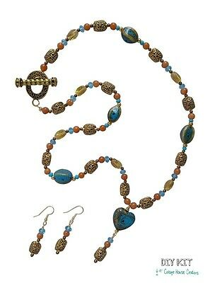 """Designer Jewelry Making Supplies """"Valencia"""" Bead Kit with Photo Instructions"""