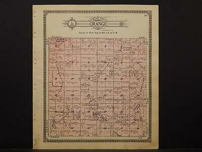Minnesota Douglas County Map 1912 Town of Orange N5#21