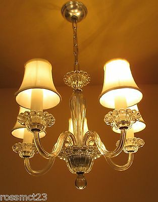Vintage Lighting rare circa 1940 chandelier by Lightolier