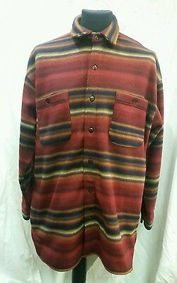 Mens Pine Ridge Thick Fleece Shirt Size Large