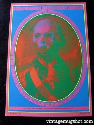 60'S Original Victor Moscoso CONCERT Poster Neon Rose NR 13 A Psychedelic MINT