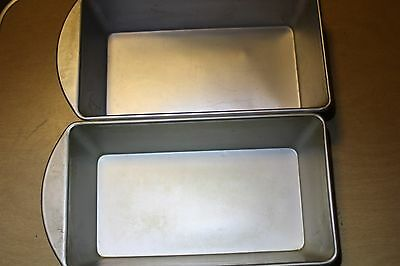 Set of 2 Mirro Bread Pan Aluminum M-5010-22 Made In USA