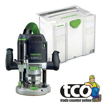 Festool OF 2200 EB-Plus GB 240V Plunge Router in Systainer - 574352