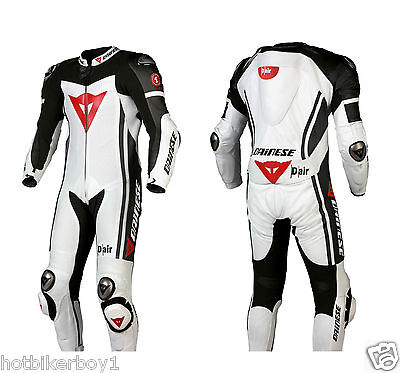 1 & 2 piece New D Air Racing Motorbike Leather Suit with CE Approved Protector
