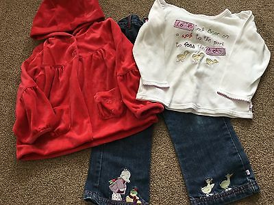 Mothercare Humphreys Corner Lottie Feeds Ducks Jacket Top Trousers 2-3 Years