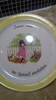 Collectors plates - Friend need no special invitation - by Laura