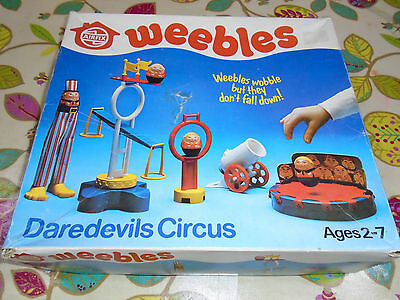 Vintage Airfix Weebles Daredevils Circus Boxed retro toy 1978, ultra rare Weeble