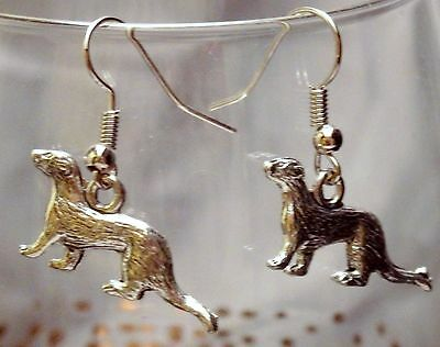 Ferret charm earrings, ferret jewelry, weasel, fuzzie, fert, polecat, catsnake
