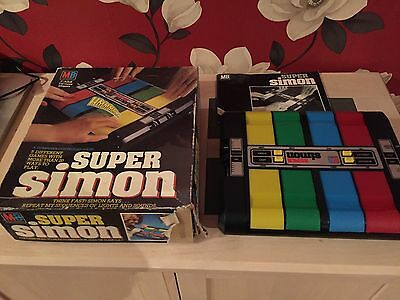 Vintage Mb Super Simon Electronic Memory Game 1981 Box And Instructions Working