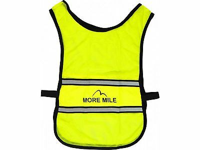 More Mile Lumino Mens Womens Reflective Running Cycling Fitness Bib