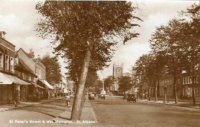St Peter's Street St Albans unused RP pc  Ref A18