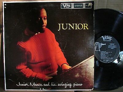 Junior Mance And His Swinging Piano MONO DEEP GROOVE VERVE TRUMPET LABEL