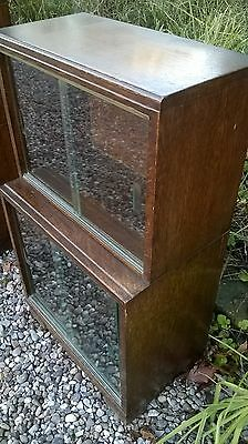 Minty of Oxford - Antique Library Mahogany Bookcase With Glass Sliding Doors