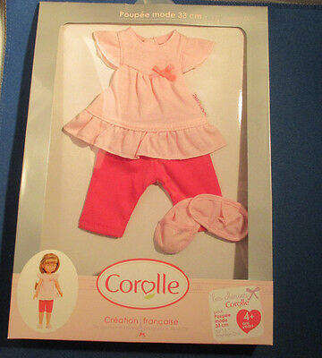 """Corolle Pajama Outfit Poupee 13"""" doll 4+ New"""
