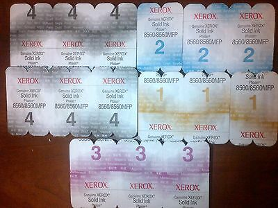 Set Of 15 Xerox Phaser 8560 8560Mfp Solid Ink Genuine Set Cymk