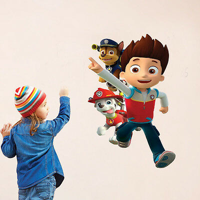 PAW Patrol Dog Living Room Wallpaper Cartoon Character Wall Stickers Home