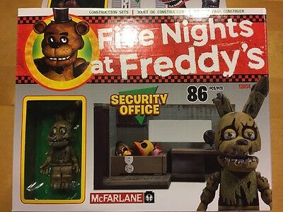 McFarlane Five Nights at Freddy's Security Office Set in hand Springtrap