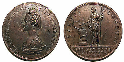 1773 medal for the institution of the Medical Society of London, signed Kirk