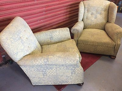 A Good Quality Pair of  Edwardian Armchairs c 1900-10