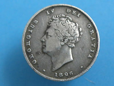 1826 - King George IV - SILVER SHILLING COIN - Good Coin