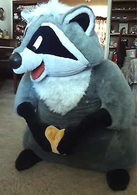 Rare Huge Stuffed Meeko from Pocahontas by Douglas  36 inches tall.