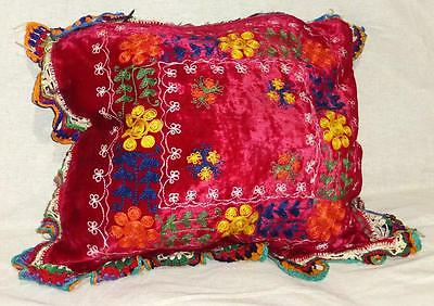 Vintage Uzbek Silk Embroidery Suzani Pillow Case Cushion A9089
