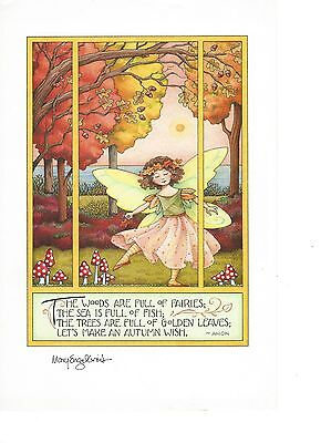"Mary Engelbrite Print Fairy ""The Woods Are Full of Fairies;"""