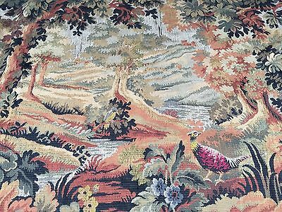 A Beautiful & Very Large Embroidered Verdure Wall Hanging/Tapestry
