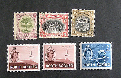 NORTH BORNEO unmounted mint and fine used
