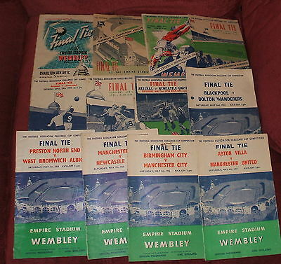 76 Different Fa Cup Final And Replay Programmes Full Set 1946-2016 All Listed