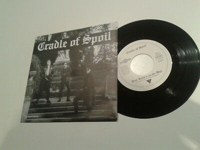 """EBM Darkwave - Cradle Of Spoil - Your Brain's On The Wall / The Law NEW 7"""" VINYL"""