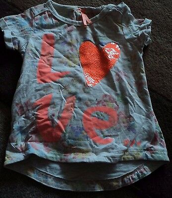 Next Age 3 Girls T-Shirt Love Casual Party Cute