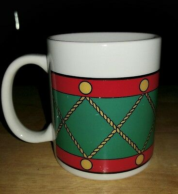 drum decorated coffee/hot Cocoa mug by avon