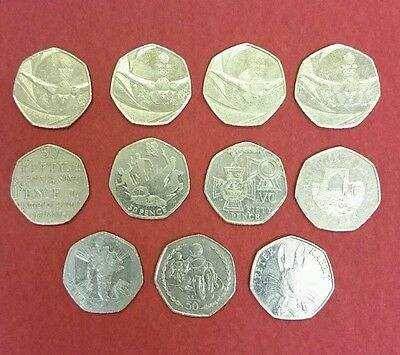50p pence set gb Olympics jersey Victoria cross Peter rabbit TT races Johnsons