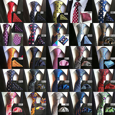 Paisley Floral Men Wide Tie & Pocket Square Set Hanky Wedding Party Handkerchief