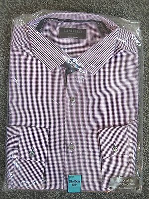 """M&s Collection Tailored Shirt 15.5"""" Collar Slim Fit 40"""" Chest"""